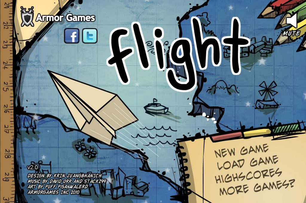 Flight - Paper Airplane game from Armor Games