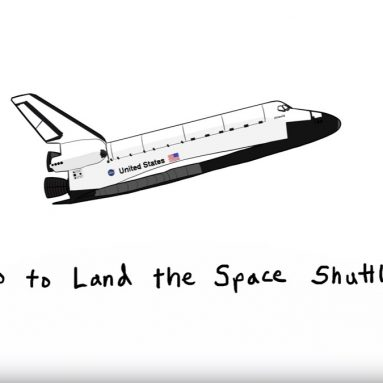 How the Space Shuttle Lands from SPACE!